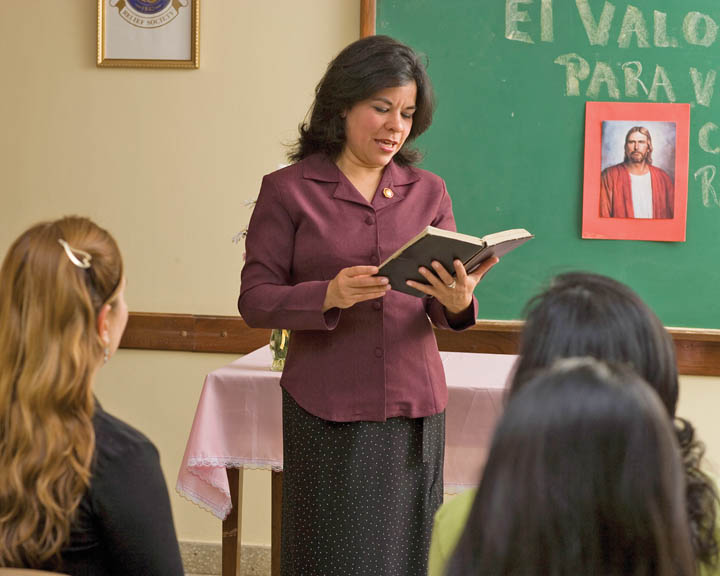 volunteer Mormon teacher