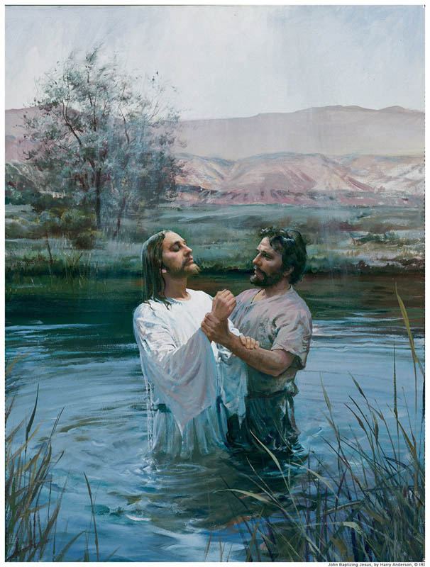 Jesus was baptized by John the Baptist.