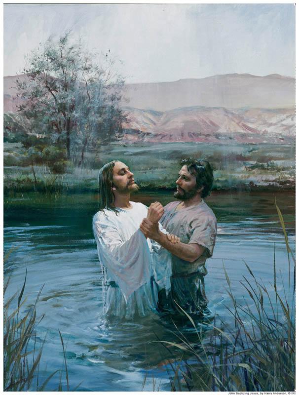 Jesus was baptized by John the Baptist.