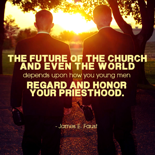 The future of the church and even the world depends upon how you young men regard and honor your priesthood by James E. Faust